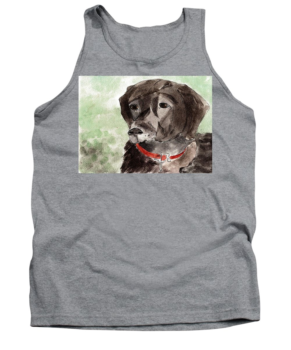 Dog Tank Top featuring the painting Labrador Retriever by Elizabeth Briggs