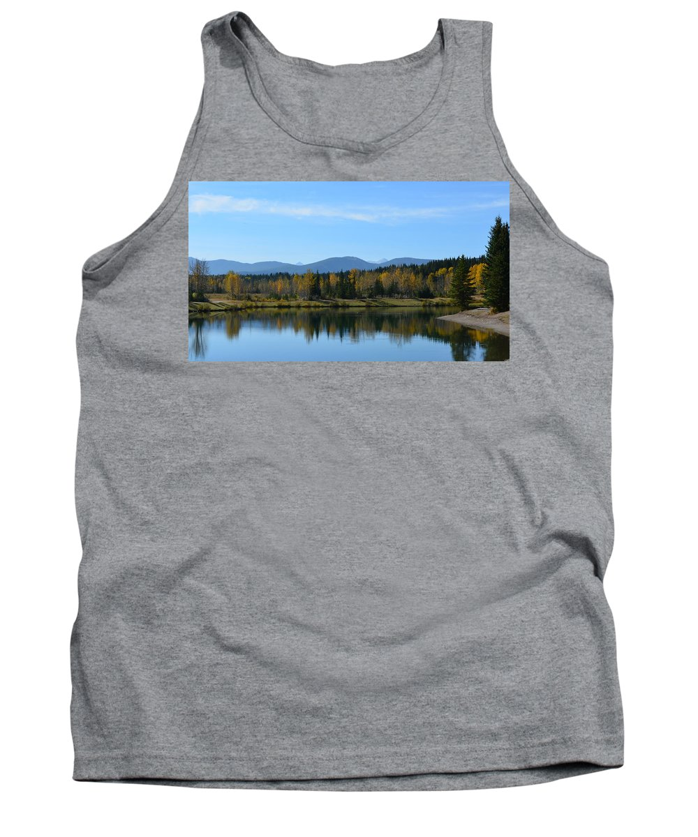 Canada Tank Top featuring the photograph Lake Reflections by Cheryl Miller