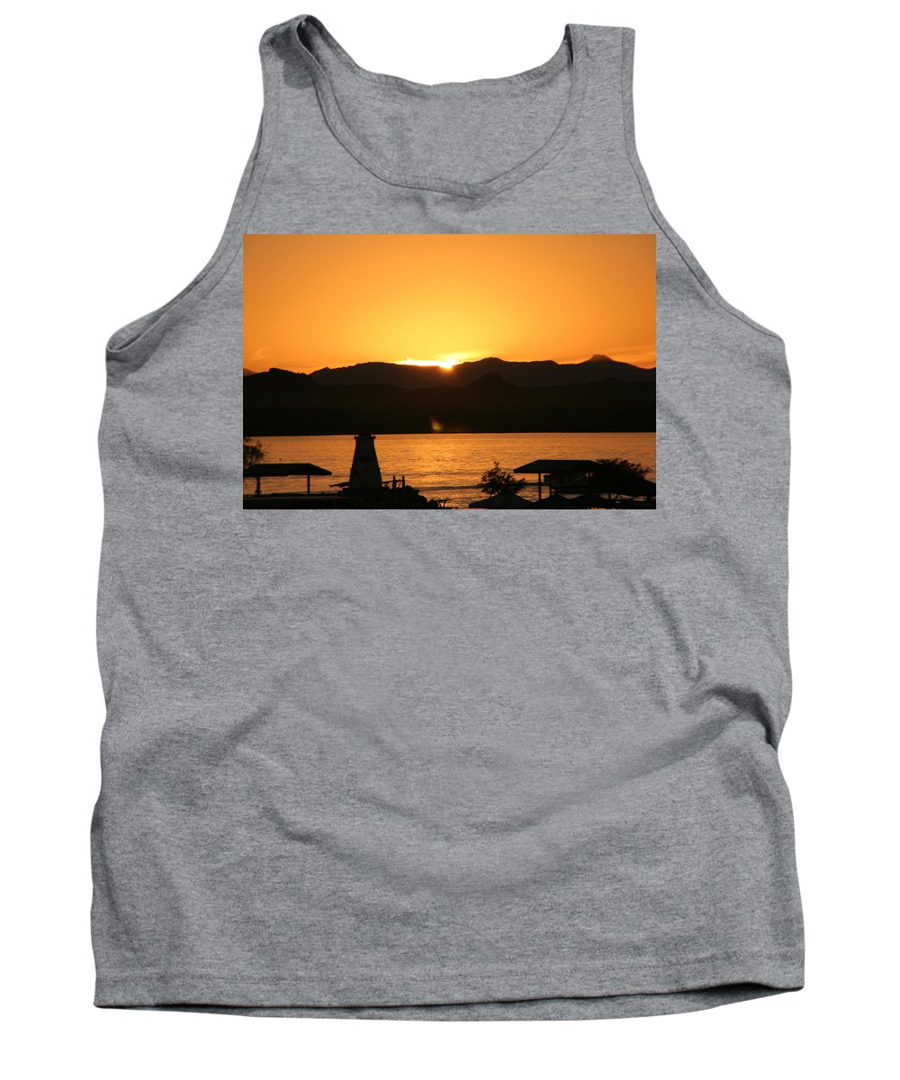 Lake Tank Top featuring the photograph Lake Sunset by David S Reynolds