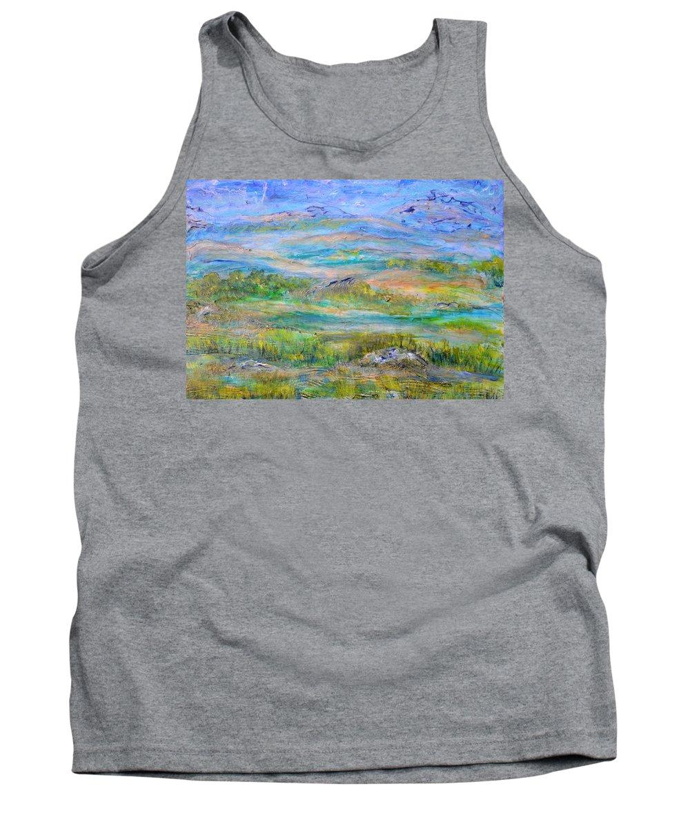 Hills Tank Top featuring the painting Landscape After Rassuman by Regina Valluzzi