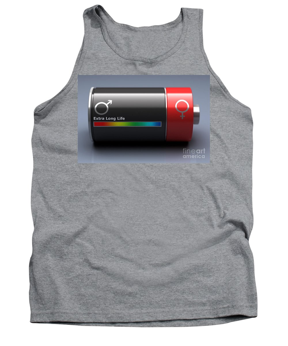 Digital Illustration Tank Top featuring the photograph Life Expectancy by Science Picture Co