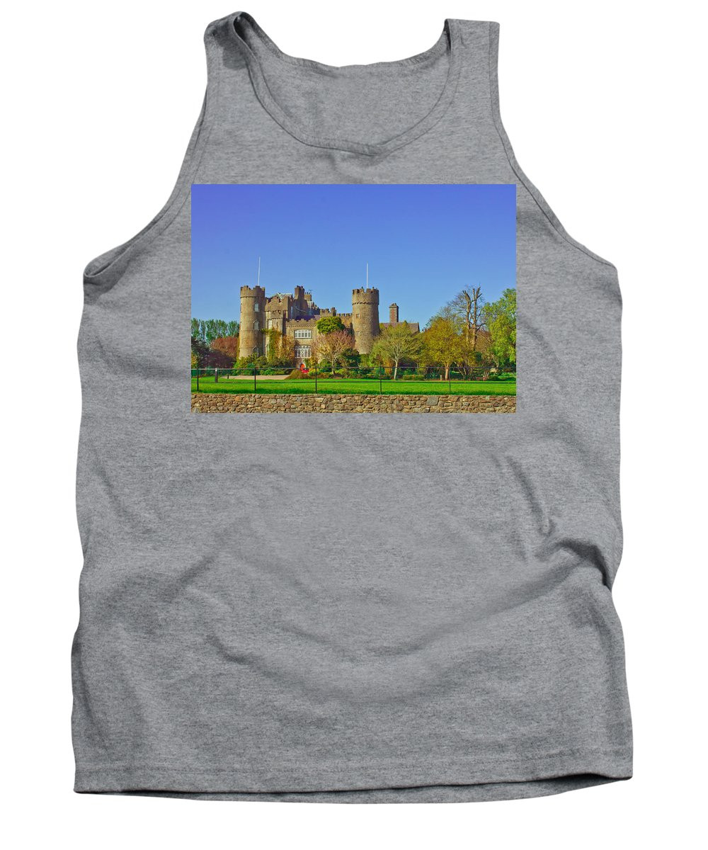 Malahide Tank Top featuring the photograph Malahide Castle by Alex Art and Photo