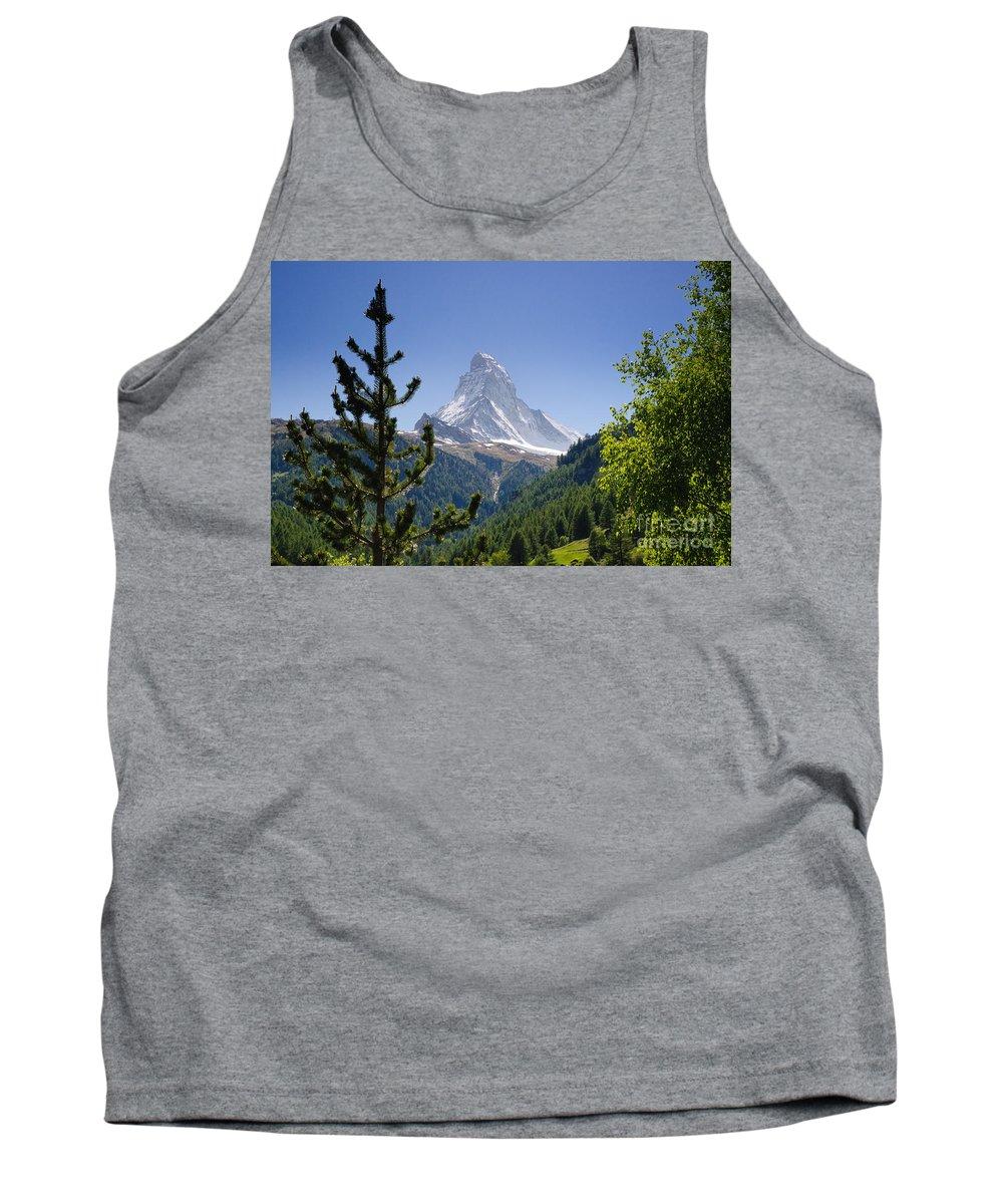 Mountains Tank Top featuring the photograph Matterhorn In Zermatt by Mats Silvan