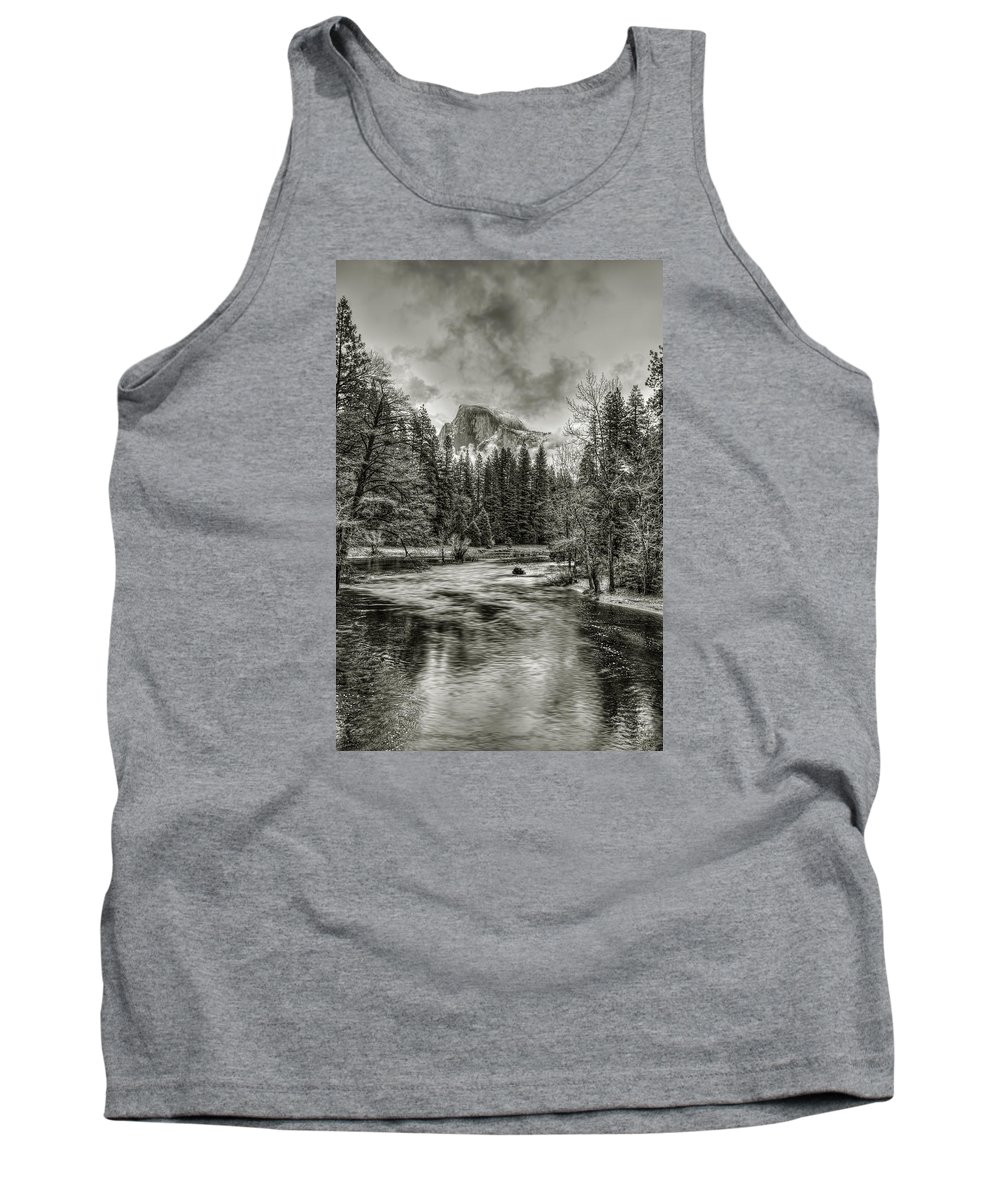 Landscape Tank Top featuring the photograph Ascending Clouds Toned by Maria Coulson