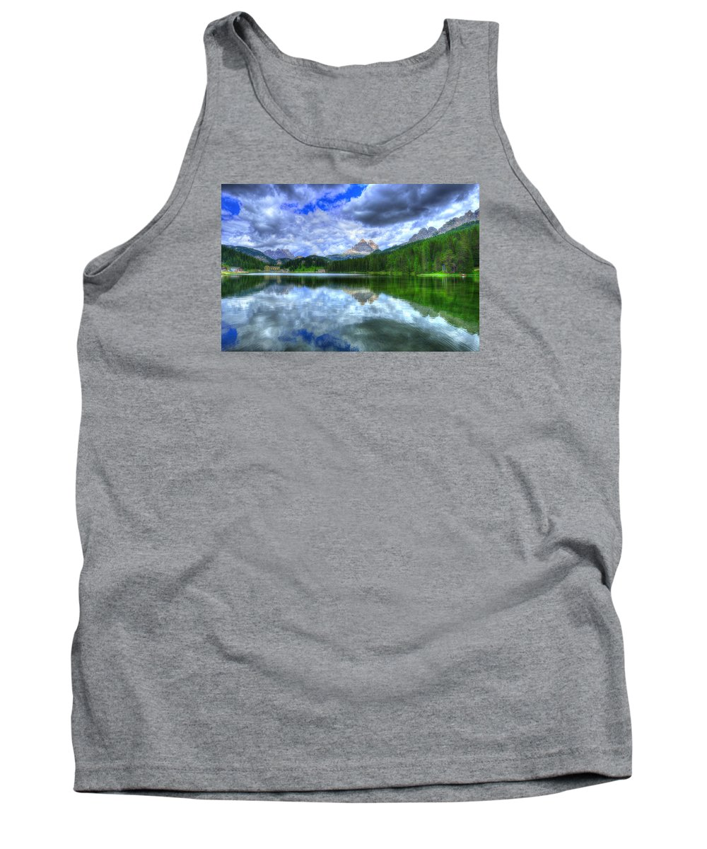 Dolomites Tank Top featuring the photograph Mirror In The Sky by Midori Chan