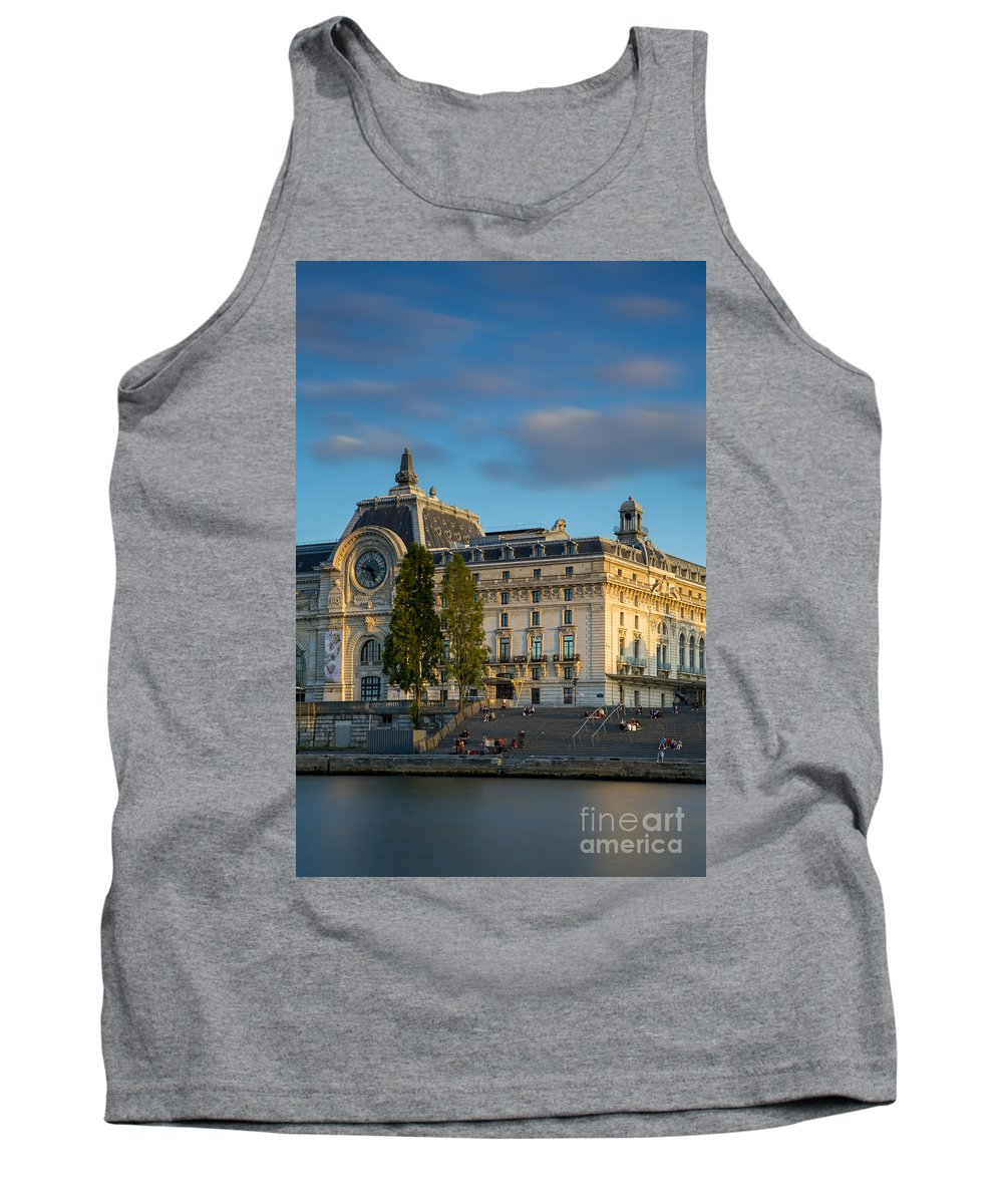 Architecture Tank Top featuring the photograph Musee D'orsay Evening by Brian Jannsen