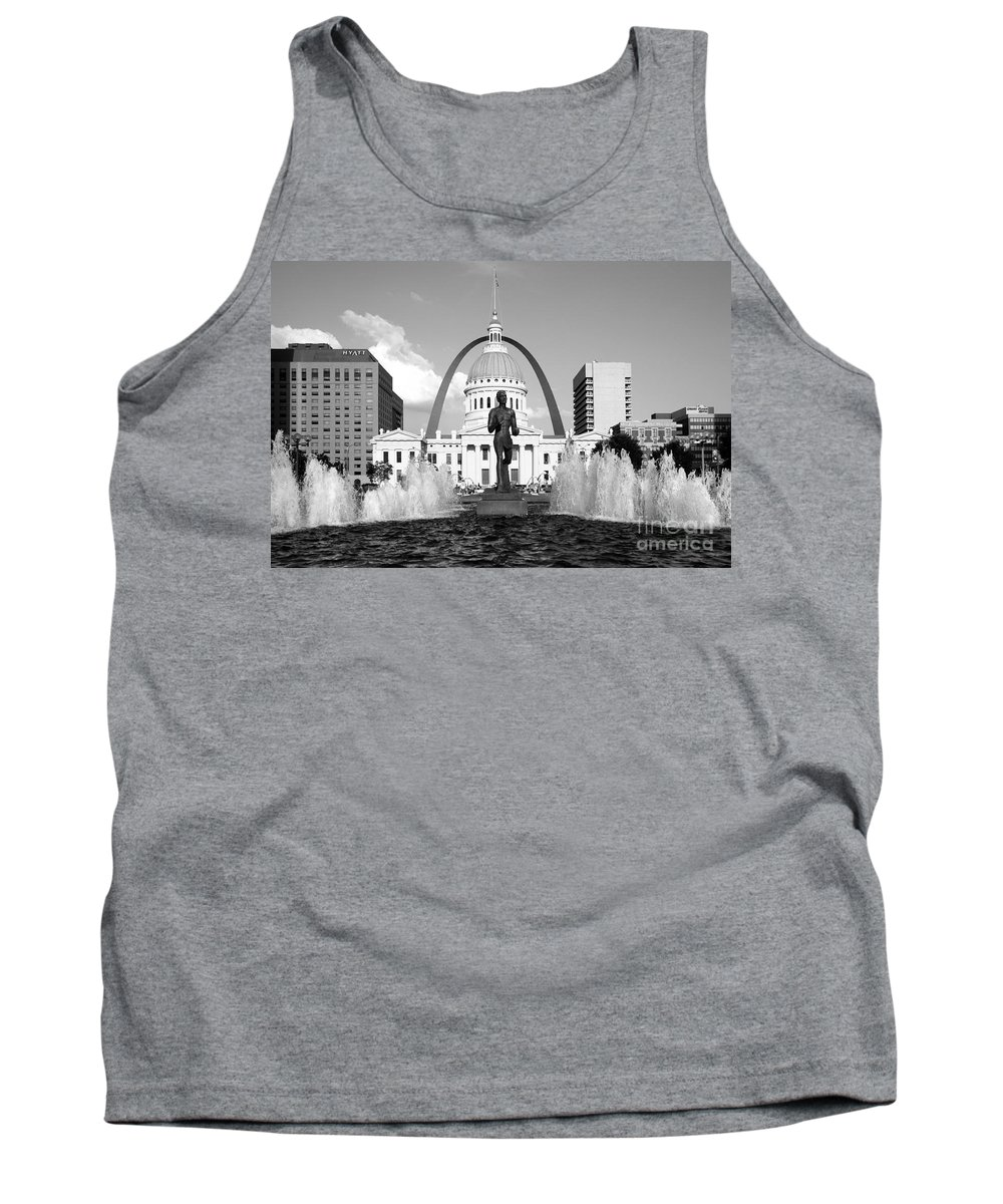 Black And White Tank Top featuring the photograph Old Courthouse Saint Louis Mo by Bill Cobb