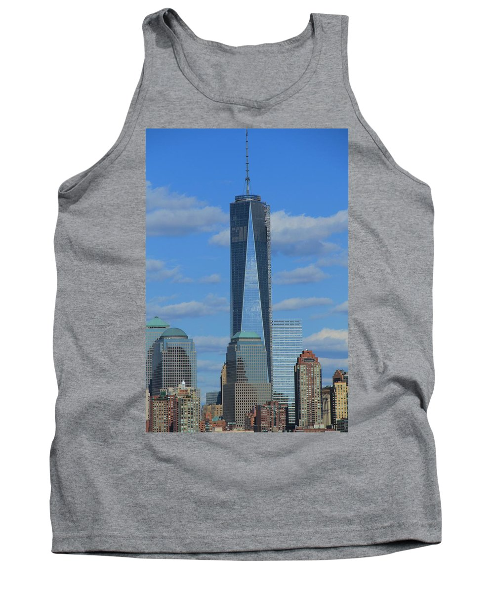 One World Trade Center Tank Top featuring the photograph One World Trade Center by Dan Sproul