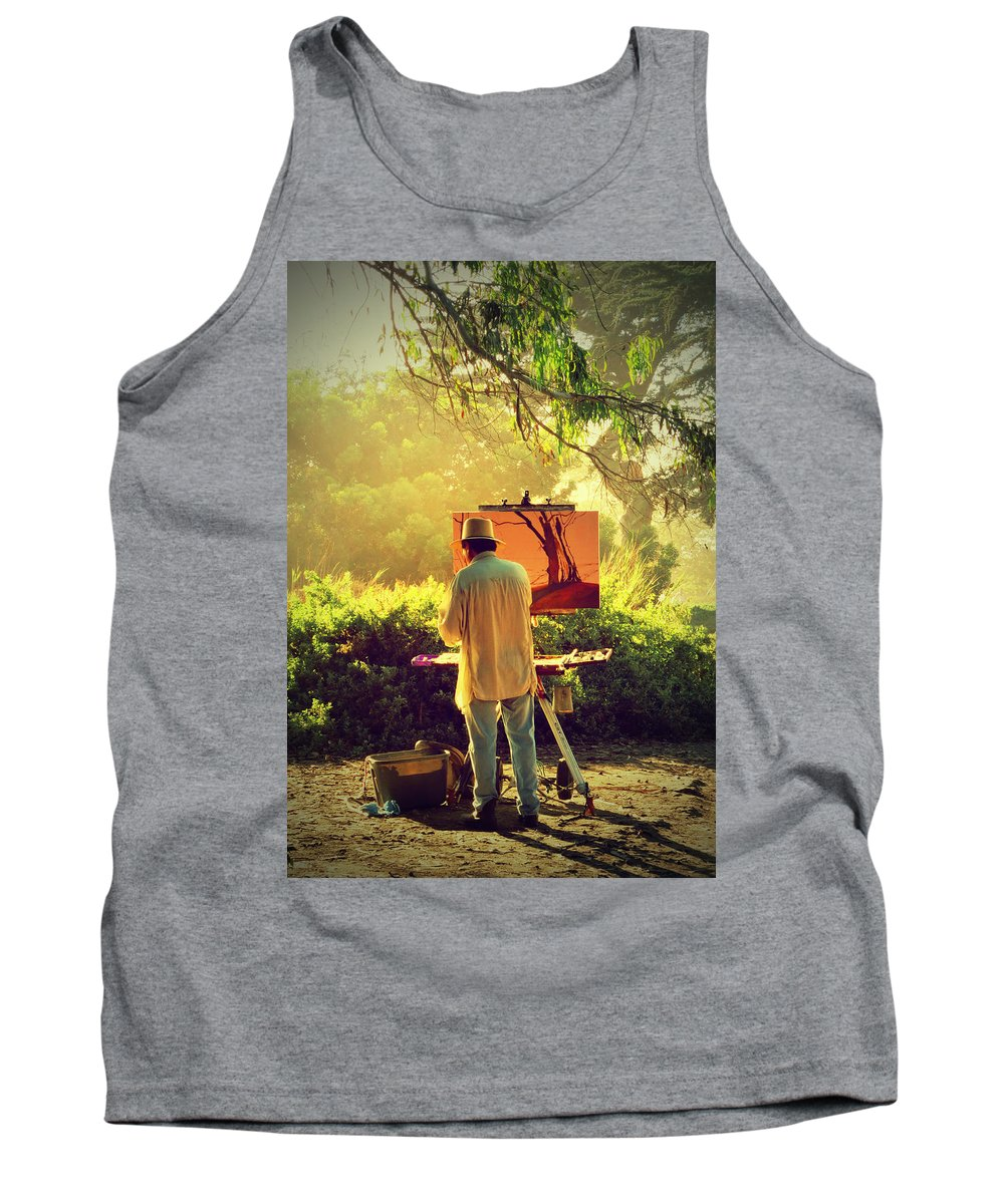Artist Tank Top featuring the photograph Within The Painting by John A Royston