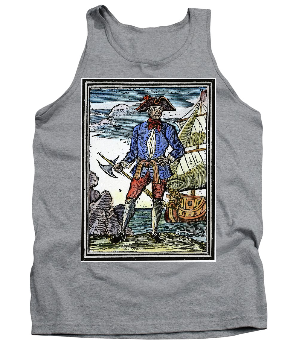 1725 Tank Top featuring the painting Pirate Edward England by Granger