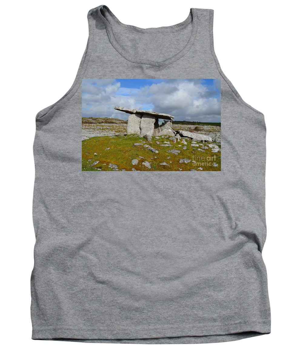 Poulnabrone Portal Tomb Tank Top featuring the photograph Poulnabrone Portal Tomb by DejaVu Designs