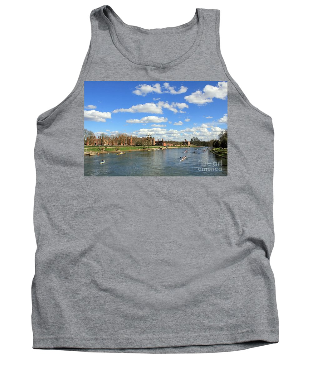 Rowing On The Thames At Hampton Court River British Tank Top featuring the photograph Rowing On The Thames At Hampton Court by Julia Gavin