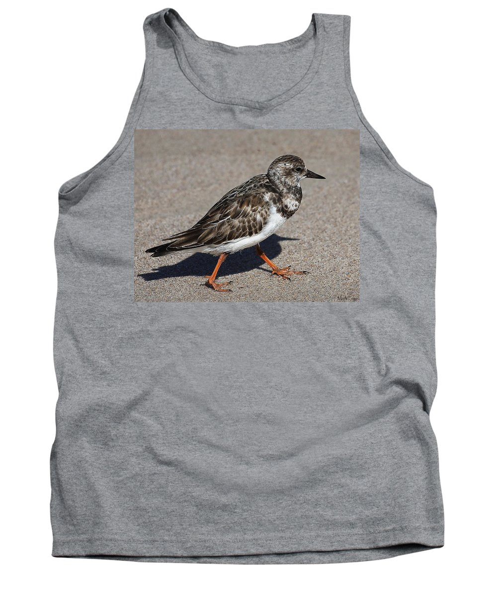 Ruddy Turnstone Tank Top featuring the photograph Ruddy Turnstone On The Beach by Mark Fuge