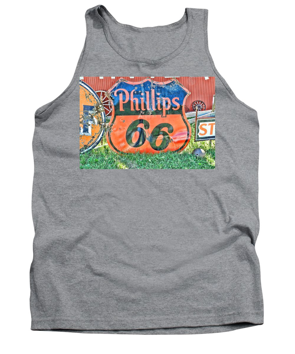 Antiques Tank Top featuring the photograph Scenes From An Antique Store In South Dakota by Cathy Anderson