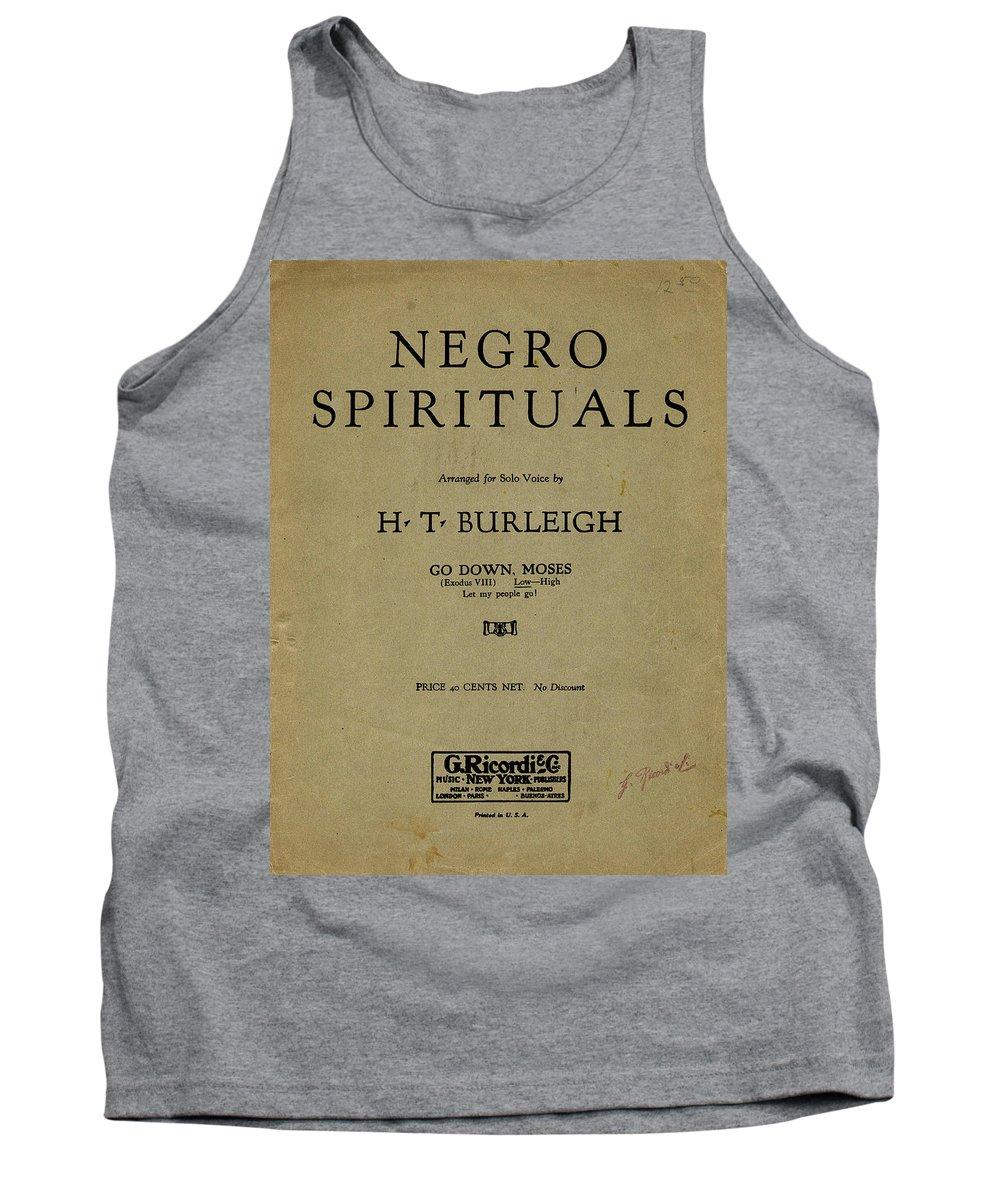 1917 Tank Top featuring the painting Sheet Music Spiritual by Granger
