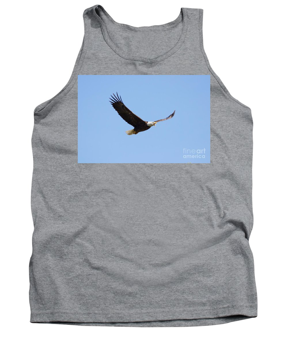 Eagle Tank Top featuring the photograph Soaring Eagle by Lori Tordsen