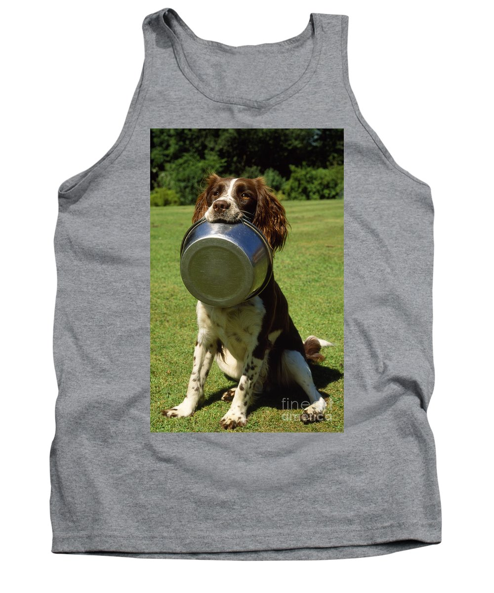 Springer Spaniel Tank Top featuring the photograph Springer Spaniel Dog by James Marchington