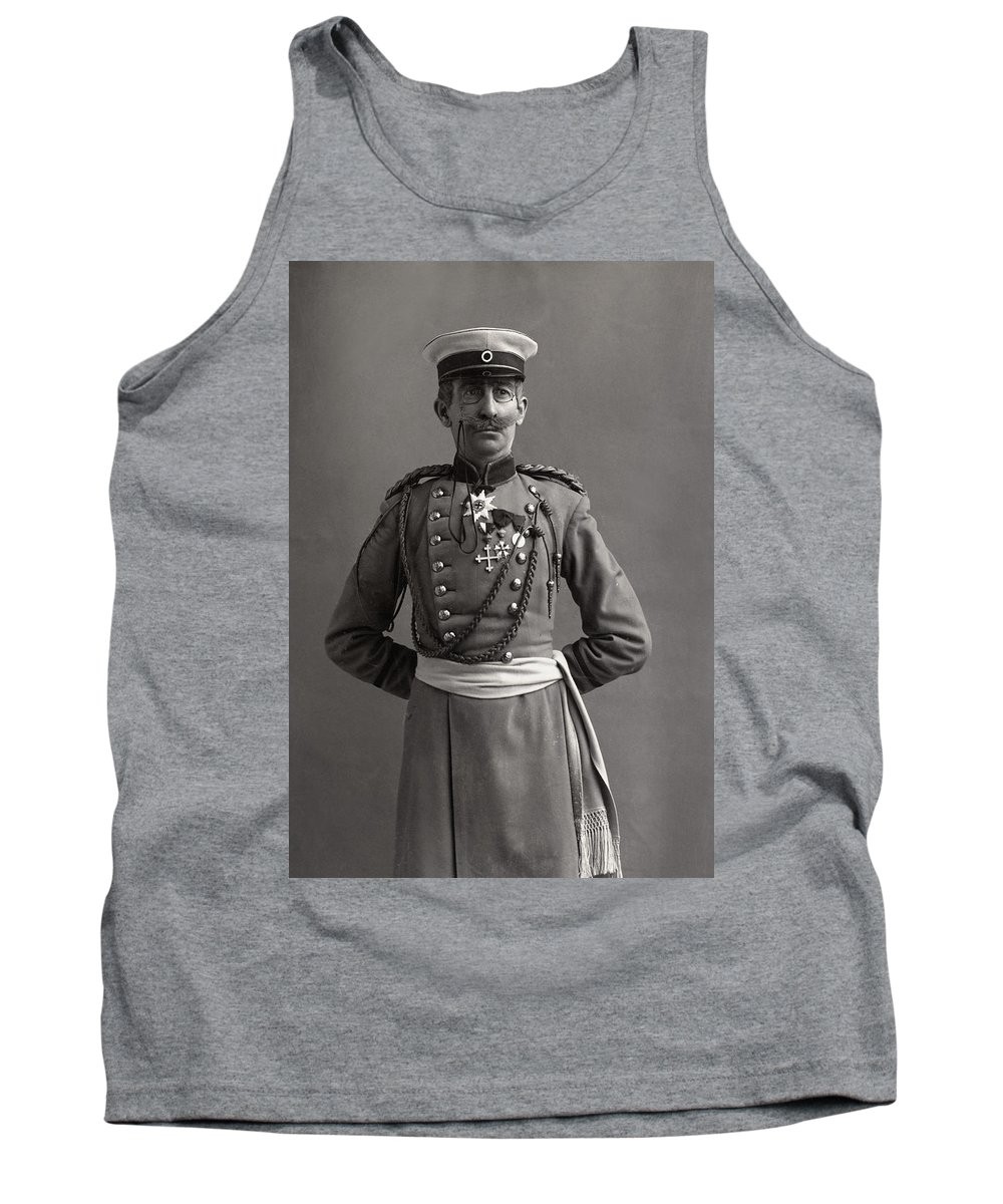 1890 Tank Top featuring the photograph Stage German Officer by Granger