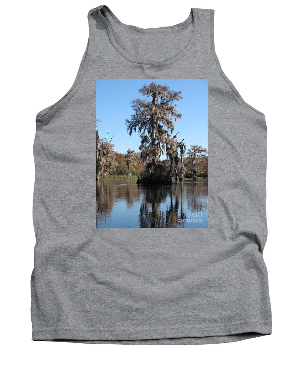 Swamp Tank Top featuring the photograph Walkula Springs Reflection by Christiane Schulze Art And Photography