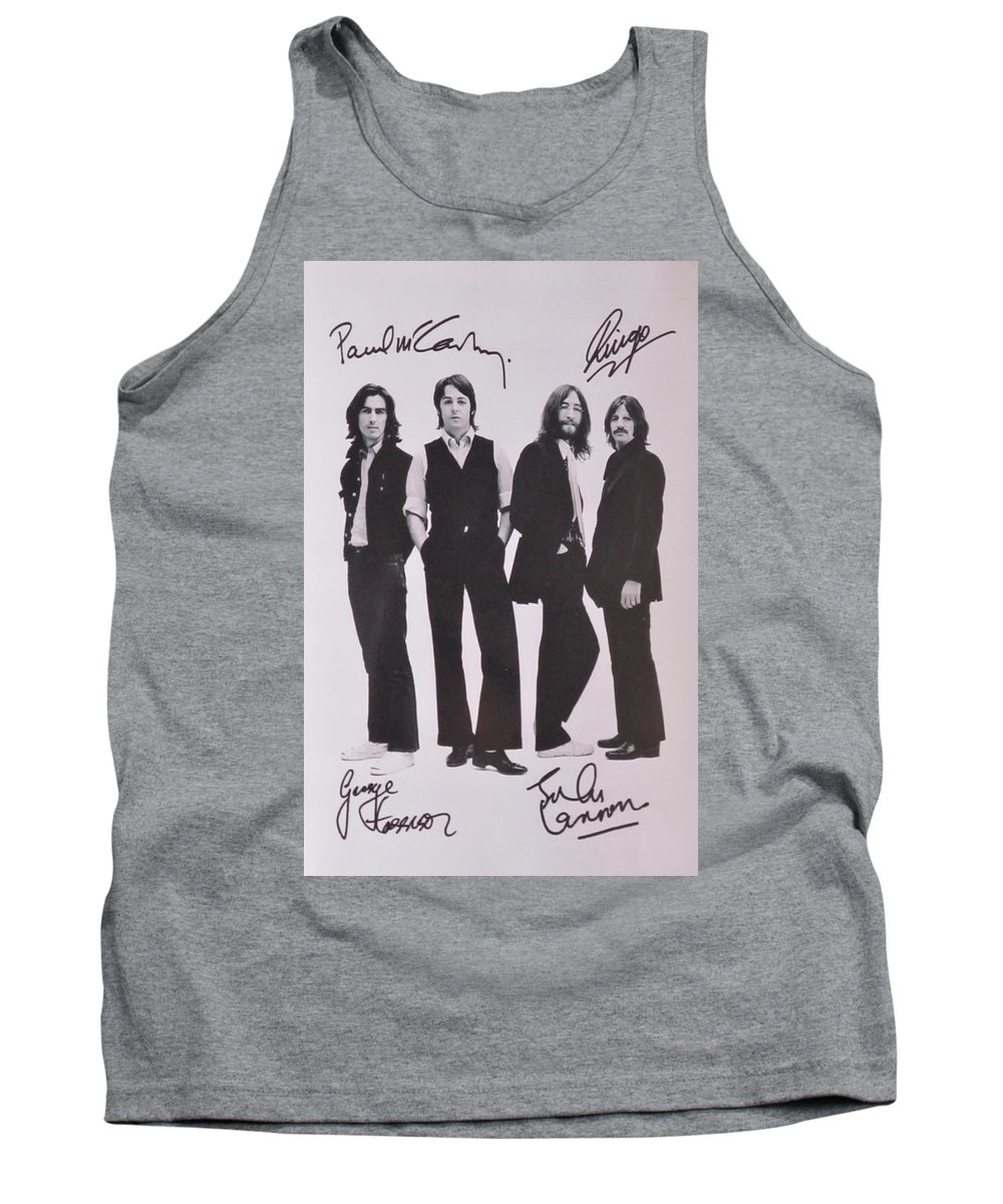 The Beatles Tank Top featuring the photograph The Beatles by Donna Wilson