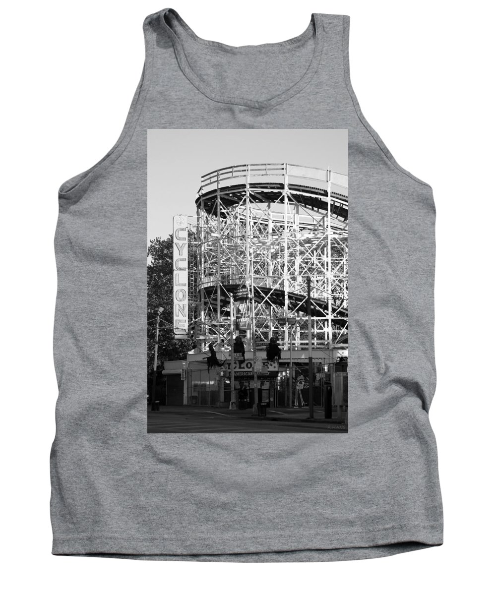 Brooklyn Tank Top featuring the photograph THE CYCLONE in BLACK AND WHITE by Rob Hans