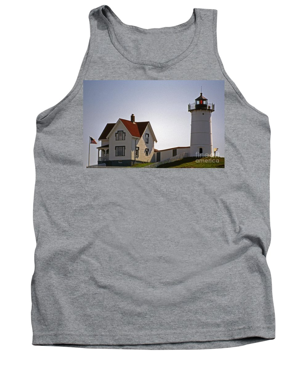 Lighthouses Tank Top featuring the photograph The Nubble Light by Skip Willits