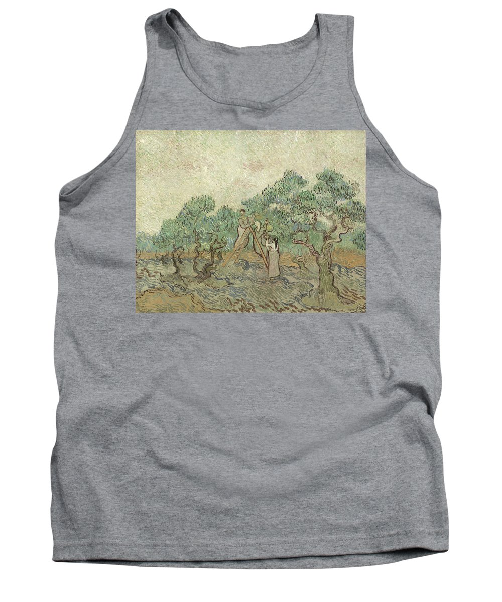 Van Gogh Tank Top featuring the painting The Olive Orchard by Vincent van Gogh