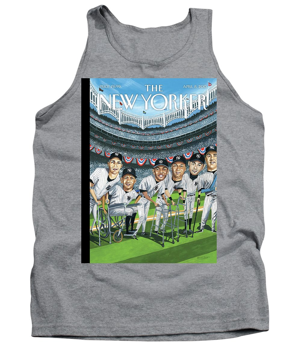 Yankees Tank Top featuring the painting New Yorker April 8th, 2013 by Mark Ulriksen