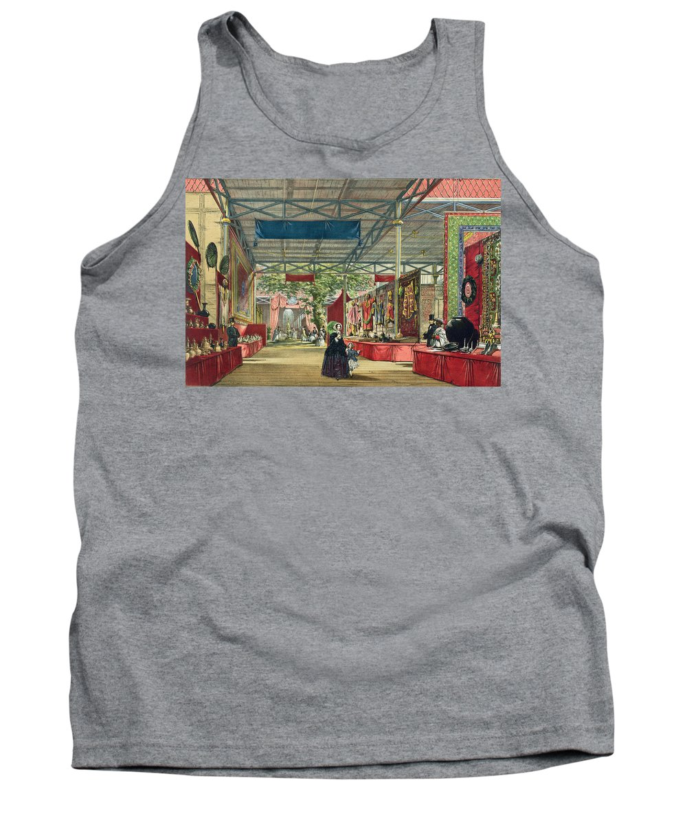 Indian Tank Top featuring the drawing View Of The India Section Of The Great by English School