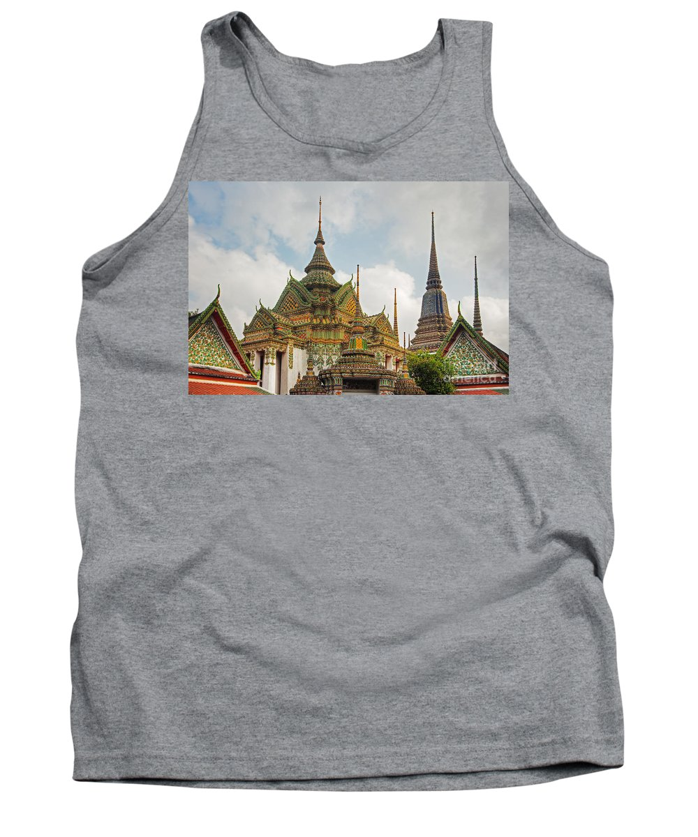 Ornate Tank Top featuring the photograph Wat Pho, Thailand by David Davis