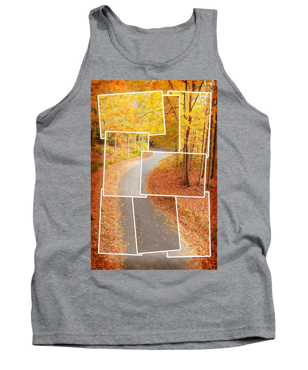 Road Tank Top featuring the photograph Winding Alley In Fall by Alexey Stiop