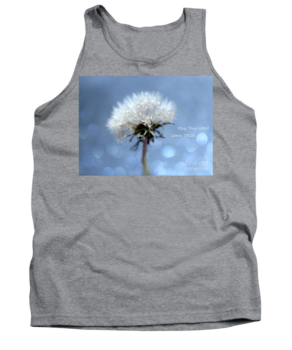 Dandelion Tank Top featuring the photograph Wish by Krissy Katsimbras