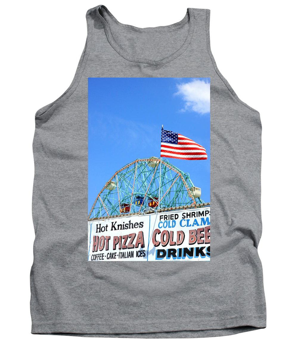 American Tank Top featuring the photograph Wonder Wheel by Valentino Visentini