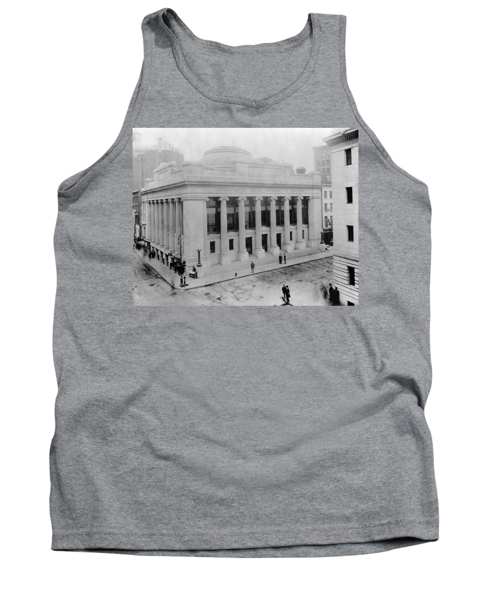 1908 Tank Top featuring the photograph New York Stock Exchange by Granger