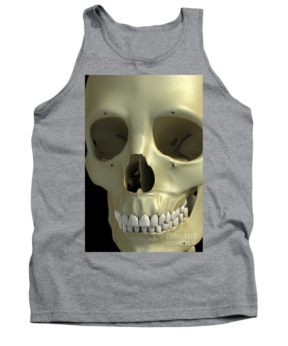 Digitally Generated Image Tank Top featuring the photograph The Skull by Science Picture Co