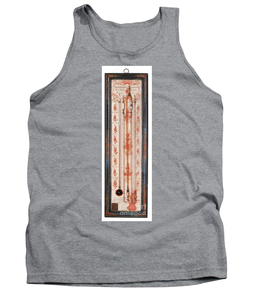 History Tank Top featuring the photograph 18th Century Thermometer-barometer by Photo Researchers