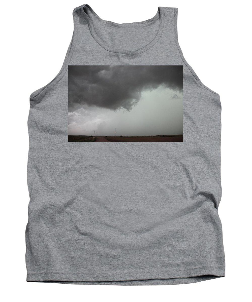 Stormscape Tank Top featuring the photograph Nebraska Panhandle Supercells by NebraskaSC