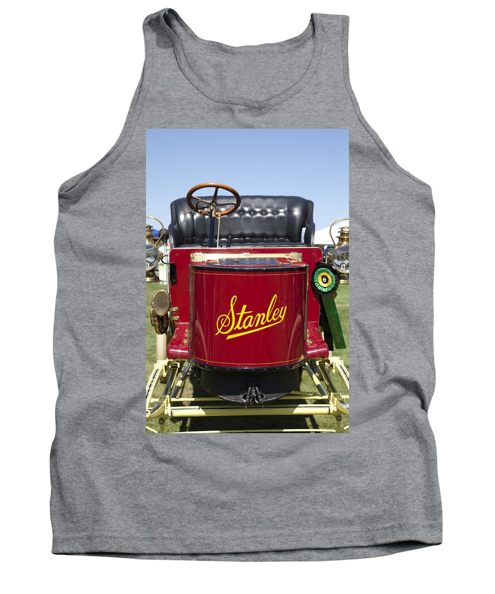 1902. Stanley Tank Top featuring the photograph 1905 Stanley Model E by Jack R Perry