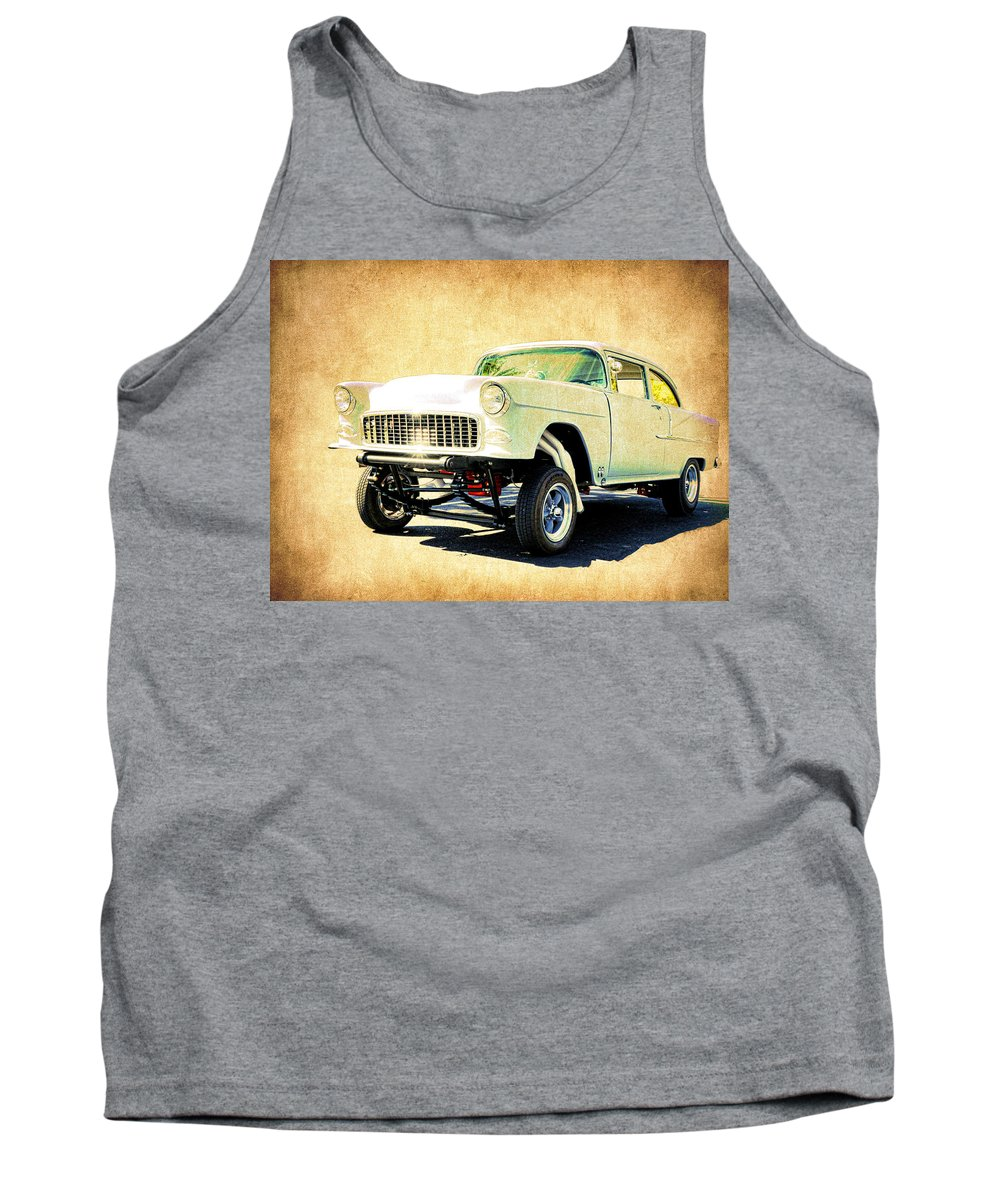 Steve Mckinzie Tank Top featuring the photograph 1955 Chevrolet Gasser by Steve McKinzie