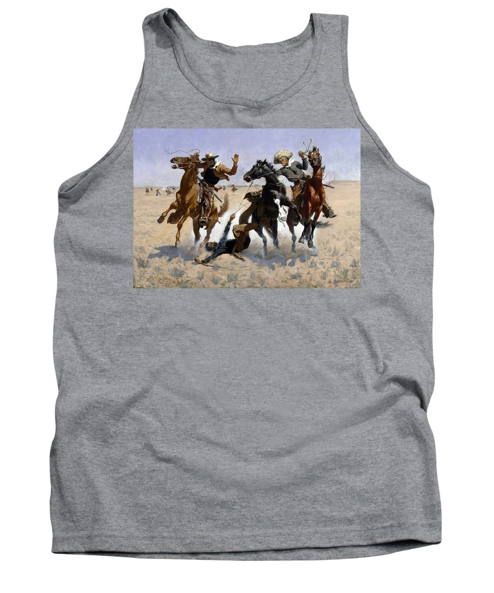 Frederic Remington Tank Top featuring the painting Aiding A Comrade by Frederic Remington