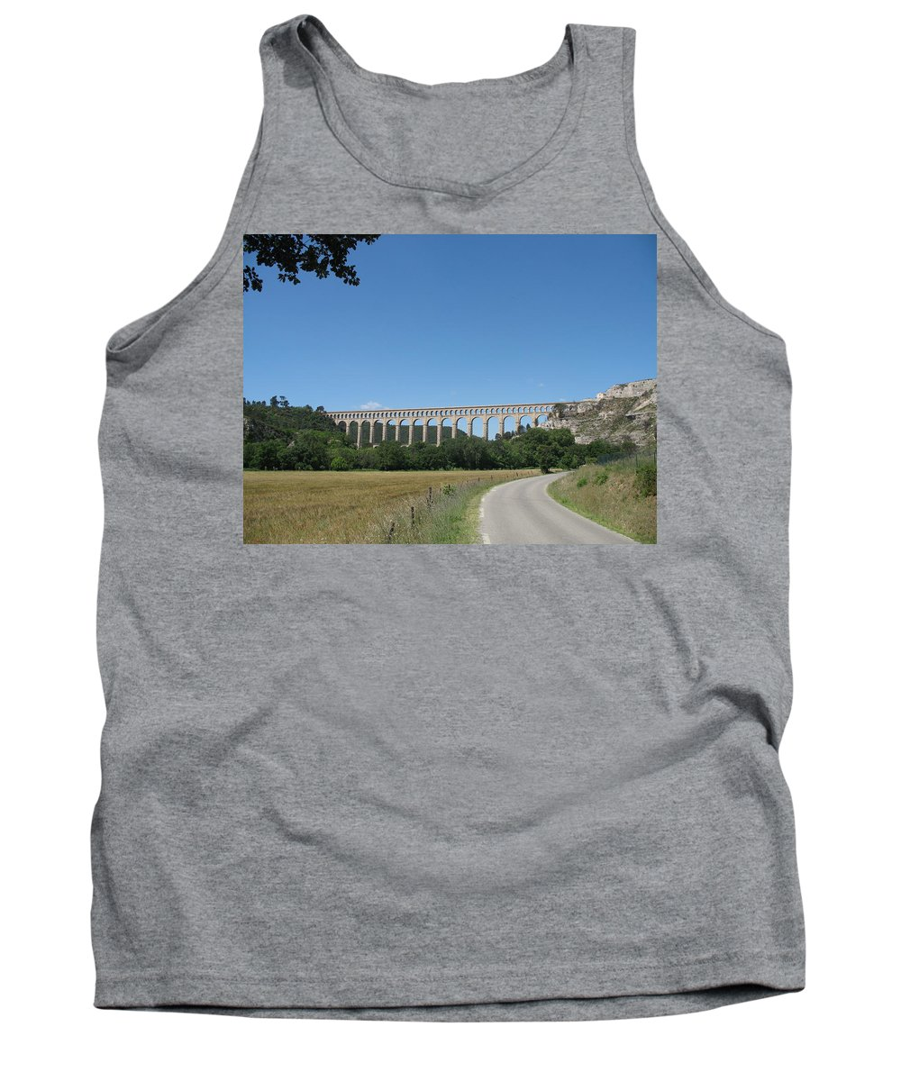 Aqueduct Tank Top featuring the photograph Aqueduct Roquefavour by Christiane Schulze Art And Photography