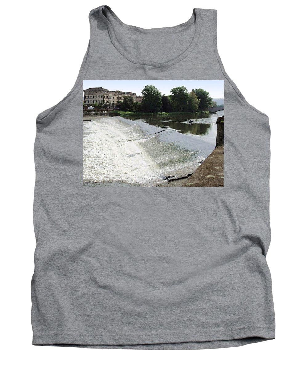 Arno River Tank Top featuring the painting Arno River 2 by Ellen Henneke