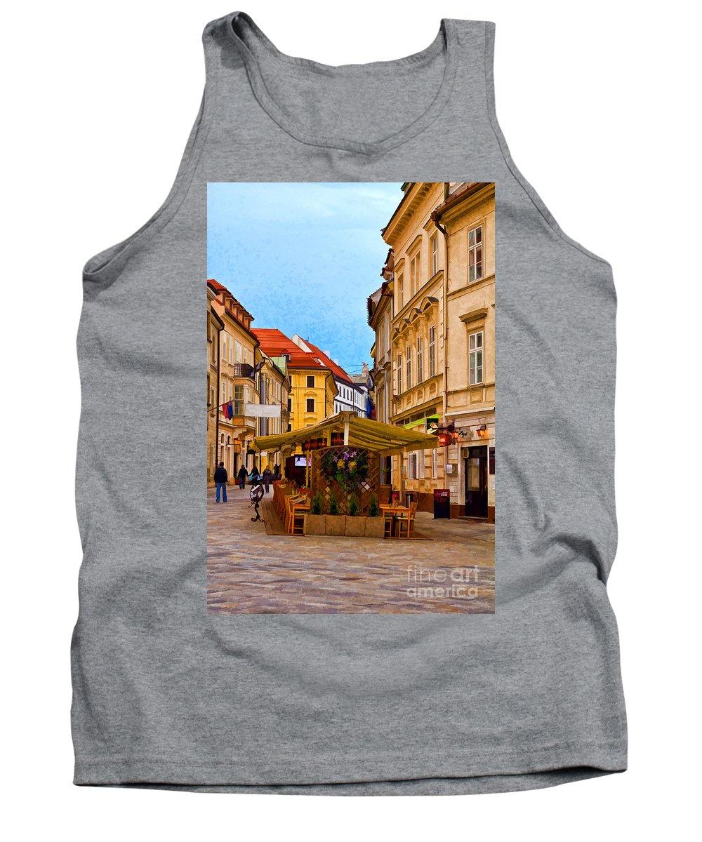 Bratislava Tank Top featuring the photograph Bratislava Old Town by Les Palenik