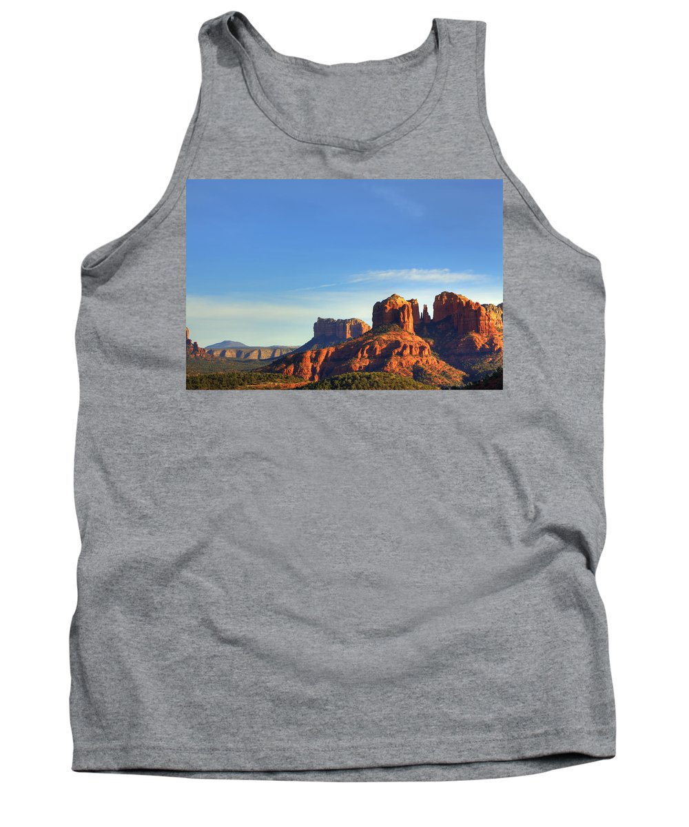Sedona Tank Top featuring the photograph Cathedral Rocks In Sedona by Alan Vance Ley