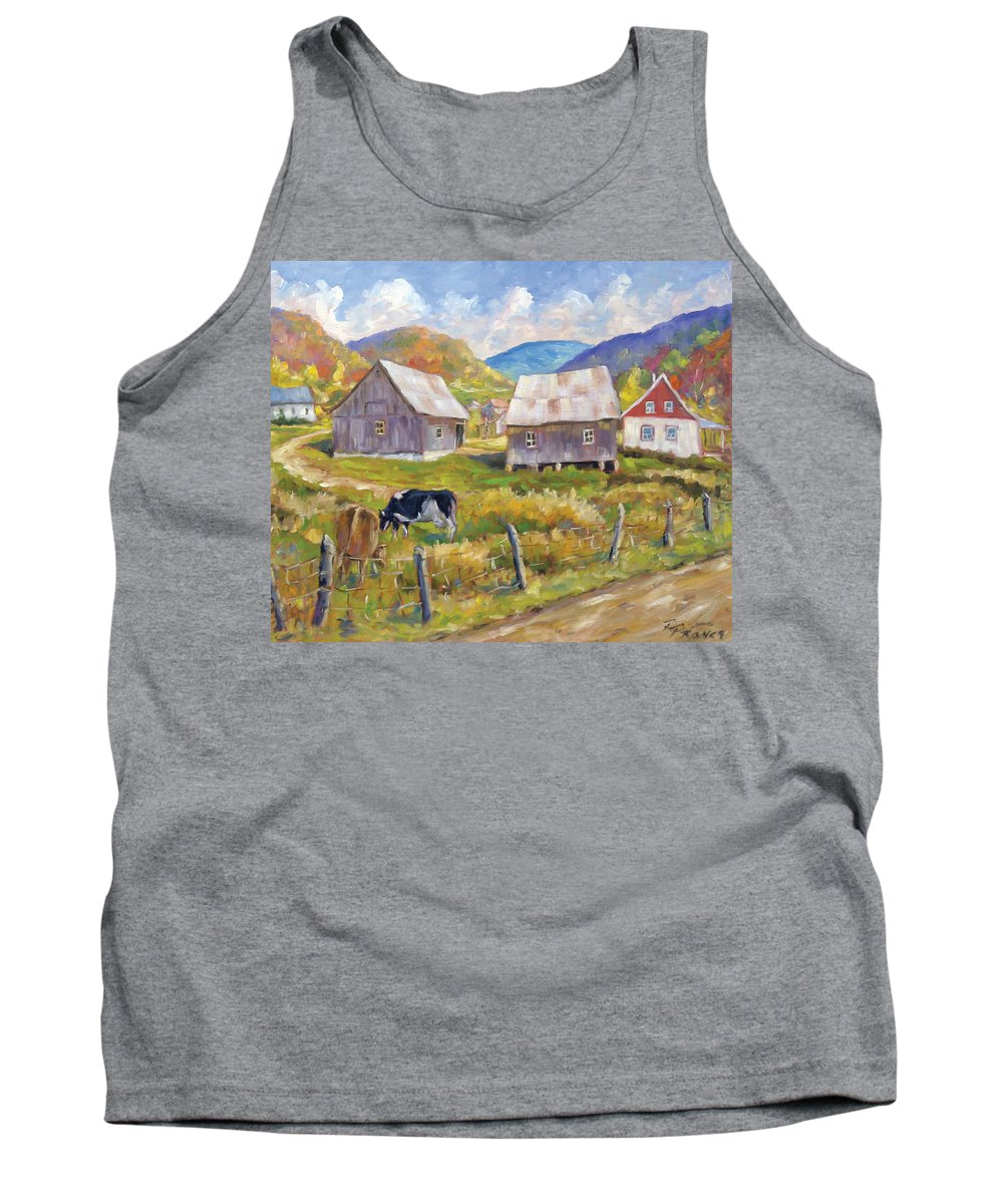 Art Tank Top featuring the painting Charlevoix North by Richard T Pranke