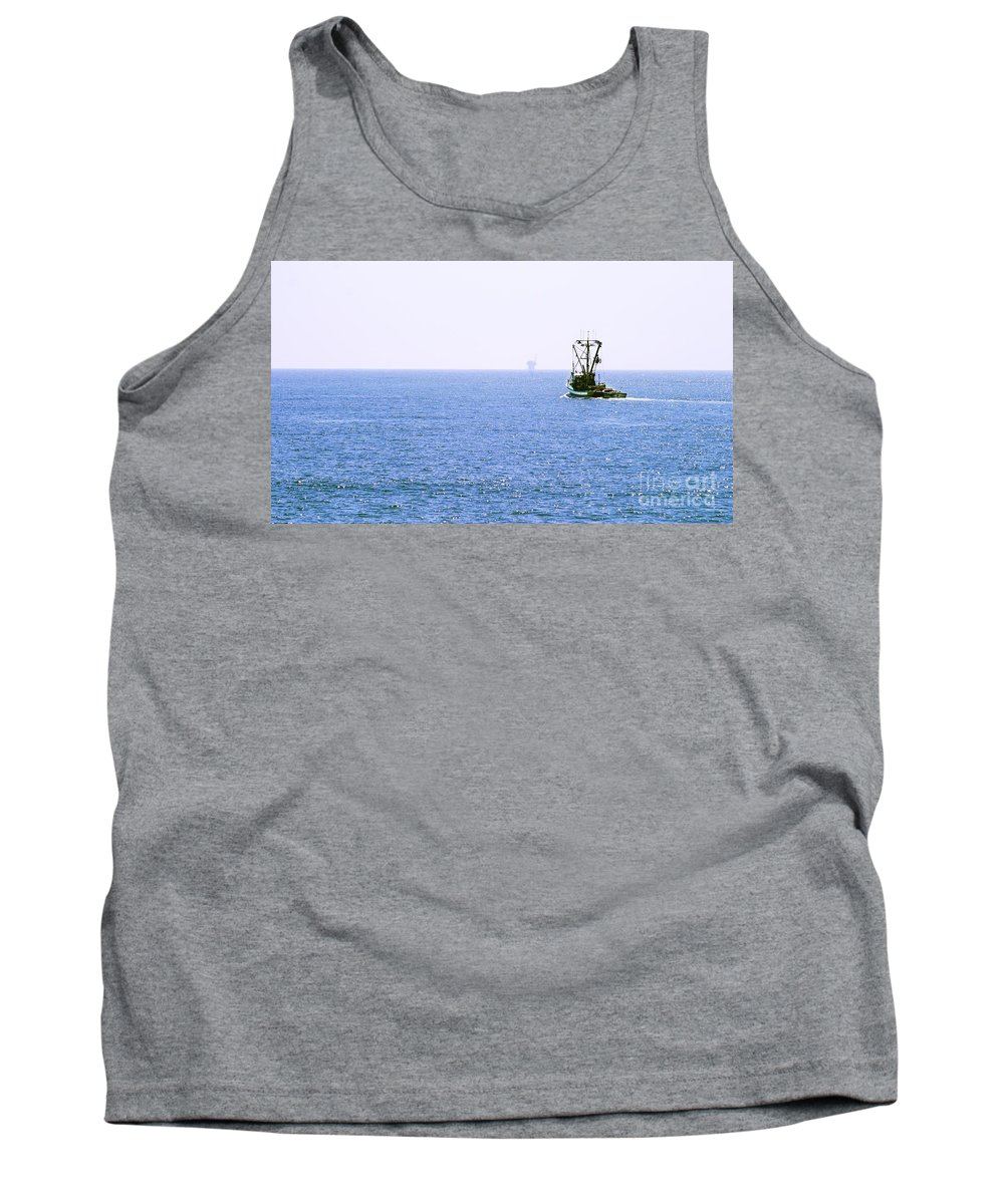 Fishing Tank Top featuring the photograph Fishing Boat by Henrik Lehnerer