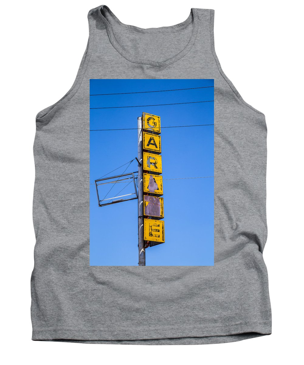 Route 66 Tank Top featuring the photograph Garage by Angus Hooper Iii