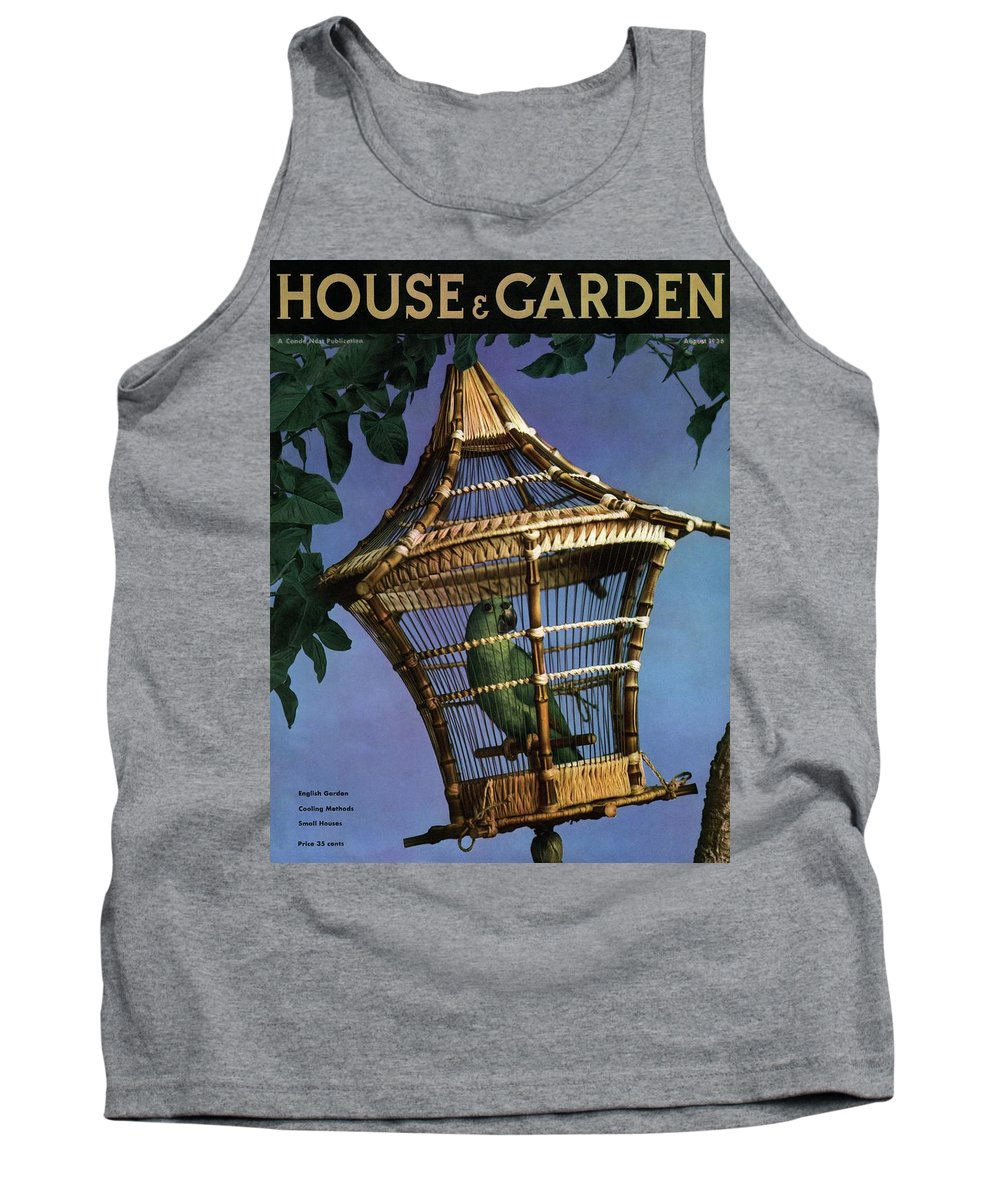 House And Garden Tank Top featuring the photograph House And Garden Cover by Anton Bruehl
