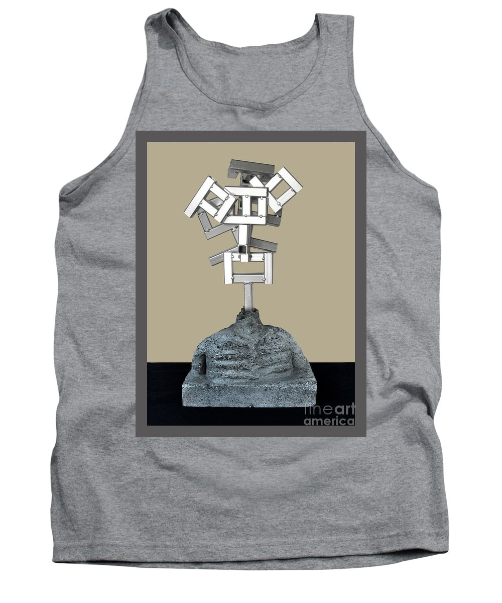 Identity Tank Top featuring the sculpture Identity Crisis 03 by Peter Piatt