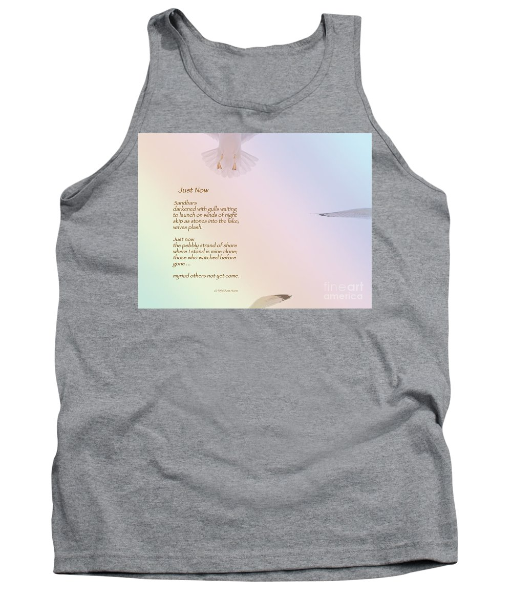 Seagull Tank Top featuring the photograph Just Now by Ann Horn